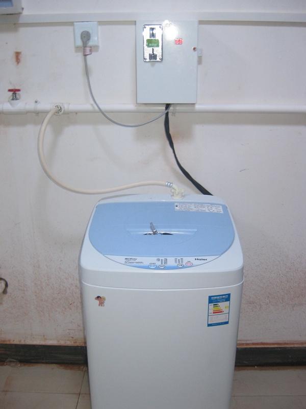 投币洗衣机安装效果